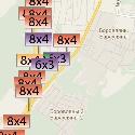 Размещение билбордов на карте г. Боровляны