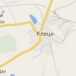 Размещение билбордов на карте г. Клецка
