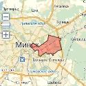 Карта размещения билбордов в Партизанском районе г. Минска