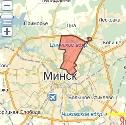 Карта размещения билбордов в Советском районе г. Минска