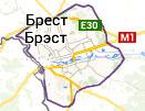 Презентация билбордов на карте города г. Брест