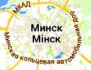 Карта размещения билбордов на трассе М9: Минск (МКАД)