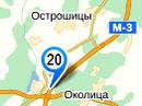 Карта размещения билбордов на трассе М3: Минск-Витебск